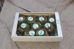 Brebis aux Herbes Schafsweichkäse Holzkiste mit 9 Stück